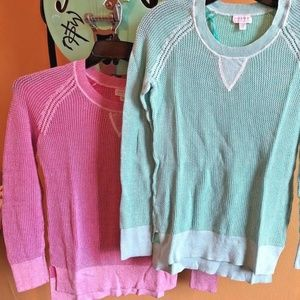 LOT of 2:  Pea In The Pod Maternity Sweaters Tops